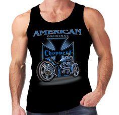 Velocitee Mens Vest Choppers Motorcycle Biker American Bobber Chopper  W11299 #Velocitee