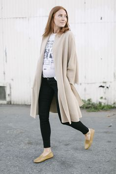 Long thick open sweater in neutral color- SM
