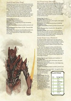 DnD Homebrew — N'een'tura Prestige Class by MontageManiac Dungeons And Dragons Classes, Dungeons And Dragons Homebrew, Weird Creatures, Fantasy Creatures, Dnd Classes, Dnd Races, Dnd 5e Homebrew, Dragon Rpg, Dnd Monsters