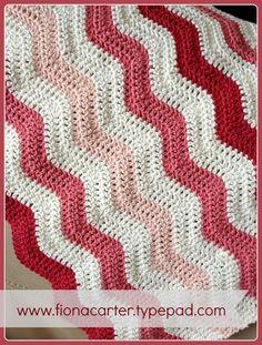 Baby girl ripple blanket #ripplealong #crochet