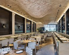 Brick Bulges Embellish Ceiling Of Fucina Restaurant By Andy Martin Architects