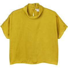 Monki Lydia blouse (7.285 CLP) ❤ liked on Polyvore featuring tops, blouses, shirts, t-shirts, goldstone, yellow shirt, yellow top, monki, shirt blouse and yellow blouse