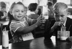School milk with a paper straw. I remember the school room to this day, queuing up to get my milk. Getting my milk, then getting slapped on the hand by the teacher for going to get my milk before it was my turn because another girl had told me to. I didn't get milk that day. Little bitch!