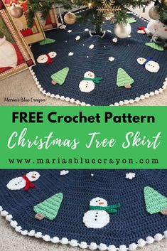 Welcome to the 2019 Christmas Tree Skirt Crochet Along! This year, we will be crocheting a tree skirt to go under your Christmas tree. Crochet Along will start on October Find all the… Christmas Tree Skirts Patterns, Crochet Christmas Decorations, Crochet Christmas Trees, Knitted Christmas Stockings, Ribbon On Christmas Tree, Crochet Decoration, Christmas Crochet Patterns, Holiday Crochet, Christmas Tree Themes