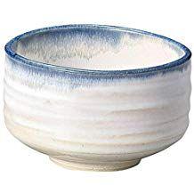Yamakiikai Minou Pottery Japanese Tea Bowl White & Blue Made by カネタ (Kaneta) from Japan Serveware, Tableware, Matcha Bowl, Organic Matcha, Tea Bowls, Serving Bowls, Pottery, Japanese, Ceramics