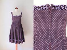 Vintage Dirndl Dress  1970's German by PaperdollVintageShop, €69.90