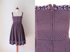 Vintage Dirndl Dress  1970's German von PaperdollVintageShop, €69.90