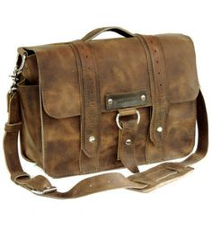 15 Distressed Tan Sonoma Voyager Leather Camera by CopperRiverBags, $181.00
