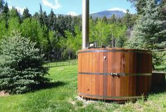 Cedar wood heated hot tub, had one growing up at my parents house