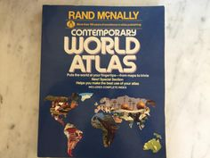 Vintage 1980's Rand McNally Contemporary World Atlas Softcover Edition Collectible Historical Maps Paperback Atlas Collectible Book Gift by Samanthasunshineshop on Etsy