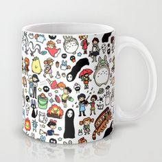 Kawaii Ghibli Doodle Mug Note: methinks I need a spare coffee cup. Totoro, Mug Printing, Cute Mugs, My New Room, Mug Cup, Tea Pots, Coffee Mugs, Drinking Coffee, Doodles