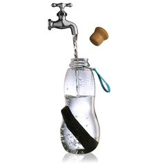 main image of Eau Good Active Charcoal Water Bottle