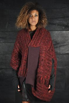 Alessandra Marchi – Knit Cardigan, purple red | -PNP, fashion stores in Florence | -PNP, fashion stores in Florence
