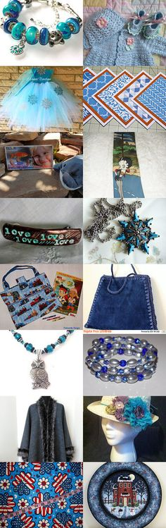ESU's SHADES OF BLUE by Dianna on Etsy--Pinned+with+TreasuryPin.com