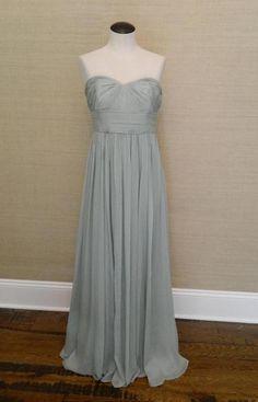 JCrew Silk Chiffon Marbella Gown 365 6 P B7701 Dusty Shale Green Long Dress