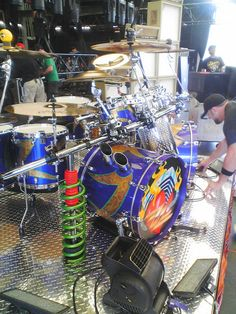 One of the coolest drum kits around! This is art! Frank Beard of ZZ Top's kit.