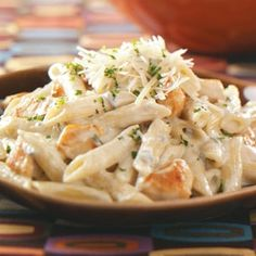 Penne Gorgonzola with Chicken Recipe---do you hear that?  It is calling my name!!