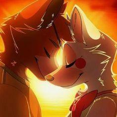 fnaf foxy and mangle Anime Lobo, Anime Fnaf, Furry Wolf, Furry Art, Fnaf Drawings, Animal Drawings, Equipe Pokemon, Arte Do Kawaii, Foxy And Mangle
