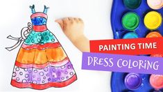 Dress Painting | Coloring Pages For Kids Dress Painting, Creative Play, Coloring Pages For Kids, Activities For Kids, Make It Yourself, Drawing, Dresses, Vestidos, Coloring Pages For Boys