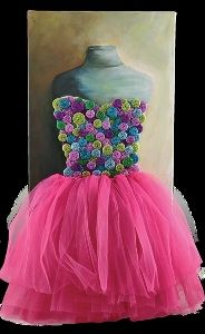 Fluffy Tutu and Buttons Wall Art