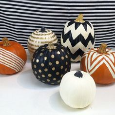 painted pumpkins at urbanic paper boutique