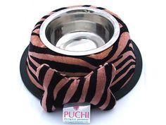 Tiger Dining Bowl with Detachable Cuddly Bone Toy (Anti Slip)