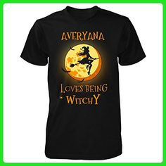 Averyana Loves Being Witchy. Halloween Gift - Unisex Tshirt Black 2XL - Holiday and seasonal shirts (*Amazon Partner-Link)