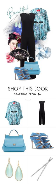 """China Girl 2"" by stormysmom on Polyvore featuring F.R.S For Restless Sleepers, KamaliKulture, Dolce&Gabbana, Gianvito Rossi, Pannee and Fortessa"