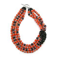 Striped Sojourn necklace by Elva Fields #elvafields