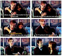 Matt Smith + Jenna-Louise Coleman  |  I'm going to miss you too, mate!