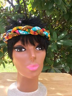 Ankara Rope Headband by SaloneStarr on Etsy