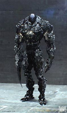 Maciej Kuciara's future Sentinel designs for X-Men: Days of Future Past.