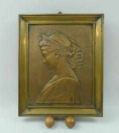 Bronze, Antique Plates, 19th Century, Auction
