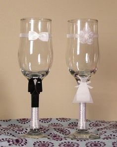 Pahare miri Mire & Mireasa Wedding Bottles, Wedding Glasses, Tableware, Fashion Bags, Gifts, Diy, Decor Ideas, House, Beautiful