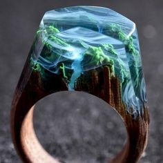Secret Wood Handcrafted Wooden Rings With Miniature Unique - Inside each of these wooden rings is a beautiful hidden world