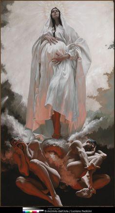 La visione di san Giovanni a Patmos. La Donna vestita di sole.  By Giovanni Gasparro