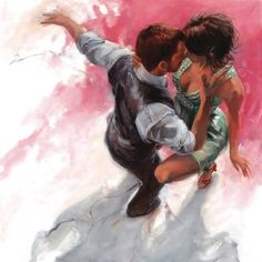By Artist Painter Allen Bentley Shall We Dance, Lets Dance, Couple Sketch, Couple Art, Tango Art, Tango Dancers, Dancing Drawings, Dance Paintings, Danse Macabre