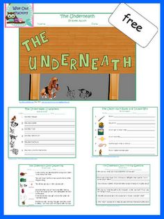 free PDF to accompany THE UNDERNEATH by Kathi Appelt, a novel for ages 10 and up.  Free, and only available on Ann Marie's blog.  This PDF cannot be posted anywhere else due to the publisher's request.