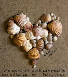Heart shells! This is a cute idea :)