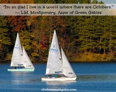 Cowan Lake State Park is beautiful any time of year, but October is especially beautiful! Sailing tomorrow?   http://www.clintoncountyohio.com/list/parks  #Ohio #VisitClintonCounty #midwest #colorchange #sailing #familyfun #familytravel #midwesttravel #sailing #colors #quotes