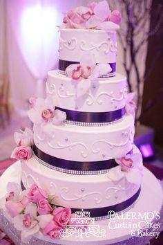 Scrolls and Elegance  Wedding Cake http://palermobakery.com/product/elegant-custom-wedding-cake/