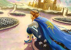 Thank you so much #fantasio for your magnificent work: this awesome lovely prince talking with his lilies!