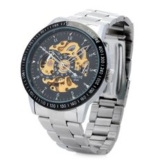 DAYBIRD Fashion Man's Stainless Steel Analog Mechanical Waterproof Wrist Watch
