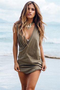 Leisha Dress - Khaki | SABO SKIRT