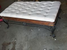 Stapled Old Coffee Tables, Canvas Drop Cloths, Clean Up, Vanity Bench, Chalk Paint, Diy, Furniture, Home Decor, Antique Coffee Tables