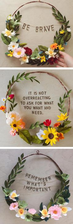 Grace D. Chin empowering floral wreaths // paper flowers // paper craft