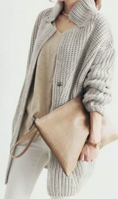 Love the layering of these different neutral textures for fall 2015.