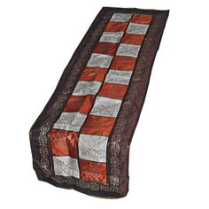Square Pattern Multicolored Table Runner