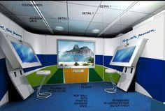 Ilustração do estande para o Comitê Olímpico Brasileiro.