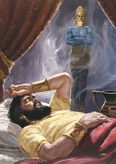 "Daniel 2:2 In the second year of his kingship, Nebuchadnezzar had a number of dreams, and he was so agitated that he could not sleep. 2 So the king gave the order to summon the magic-practicing priests . . to tell the king his dreams. So they came in and stood before the king. 10 . . .""There is not a man on earth who is able to do what the king demands, for no great king or governor has asked such a thing. . .19 Then the secret was revealed to Daniel in a vision at night."